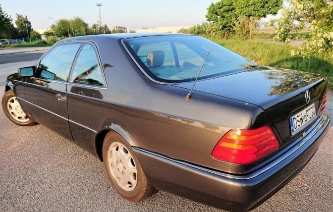 Dark Grey 1993 Mercedes 500SEC C140 (9).jpg