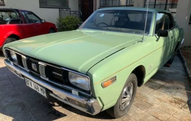 Datsun 260C Coupe 1974 green South Africa RHD rare 2 door (5).png