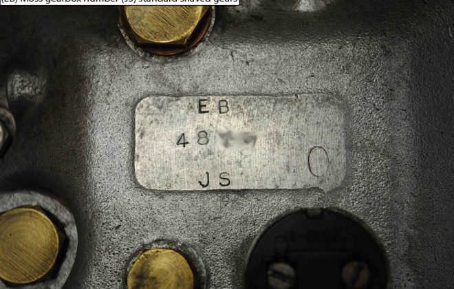 E-type XK-E Moss gearbox number.png