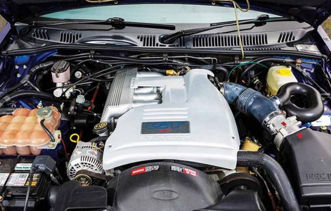 EB Falcon GT Ford engine bay 5.0l V8.jpg