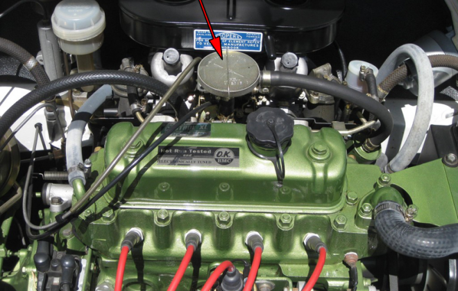 Early Clubman GT engine PCV valve.png