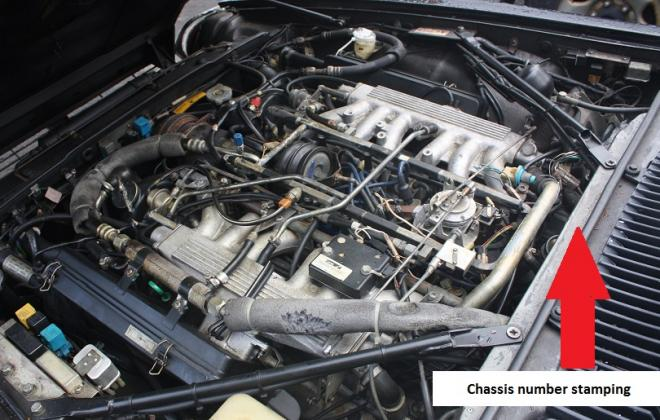 Engine Bay Jaguar XJS engine number location.jpg