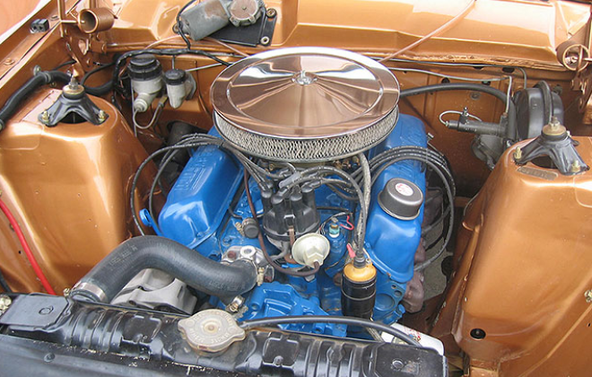 Engine bay XR GT Falcon.png