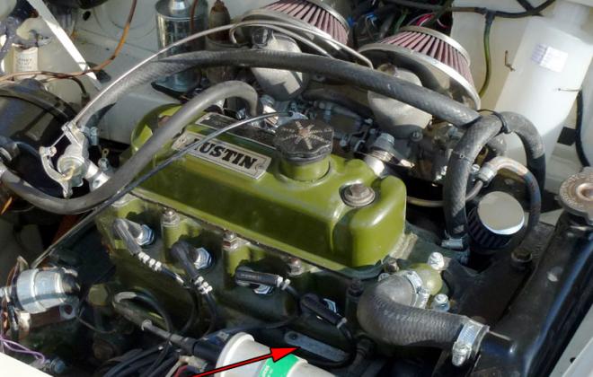 Engine number location 970cc Cooper S MK1.png