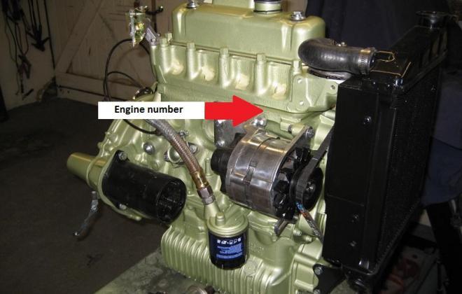 Engine number location MK2 Australian Cooper S.jpg