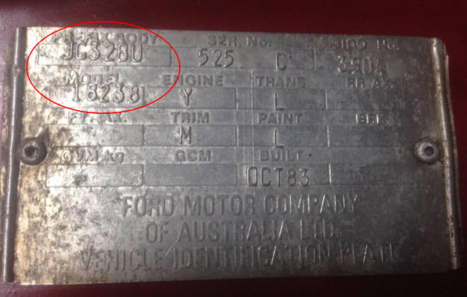 Ford Fairmont Ghia XE ESP chassis plate model code and body prefix code  (1).png