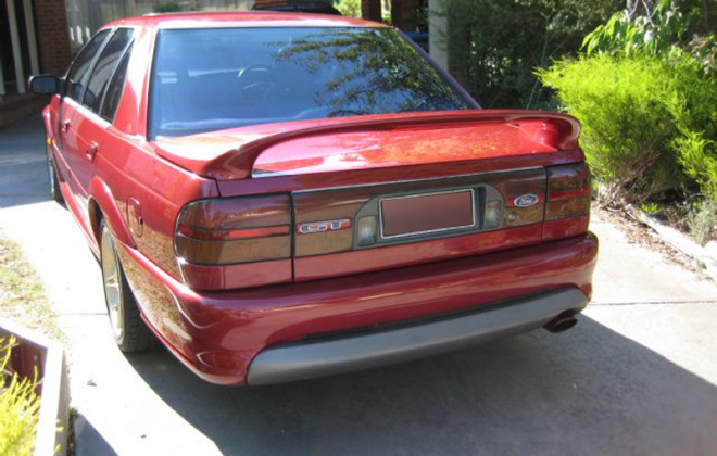 Ford Falcon EB GT Cardinal Red paint code G5 image rear.png