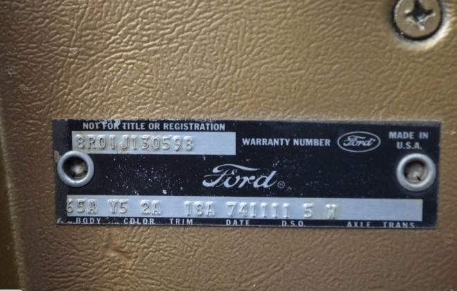 Ford Mustang 1968 Golden Nugget special edition images NZ (11).jpg