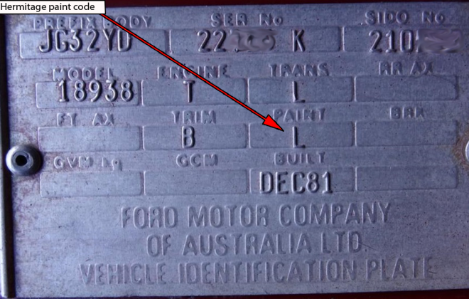 Ford XD ESP chassis plate paint code location (3).png