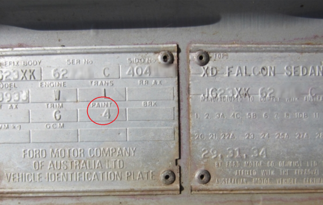 Ford XD ESP chassis plate paint code location (1).png