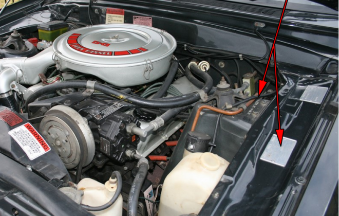 Ford XE ESP Ghia Serial Number location engine bay data plate.png