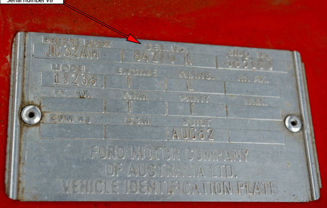 Ford XE Fairmont Ghia ESP chassis plate serial number V8 (2).png