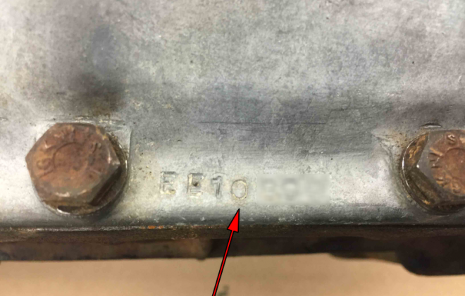 Gearbox number stamped on flange edge E-Type 1968.png