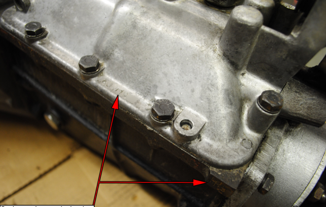 Gearbox number stamping locations Series 1.5 E-type Jaguar.png