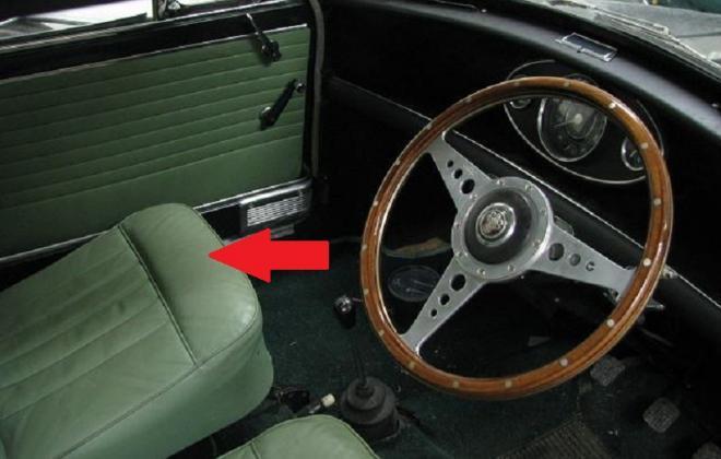 Green interior Mini COoper S MK1 Australia.jpg