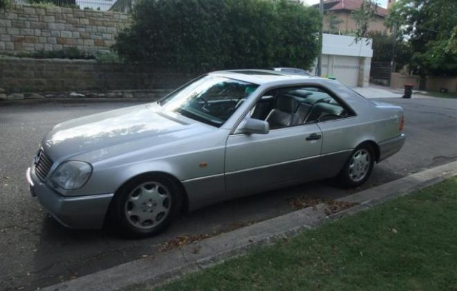 Grey silver C140 Mercedes S500 Coupe 1994 Australia classic (3).jpg