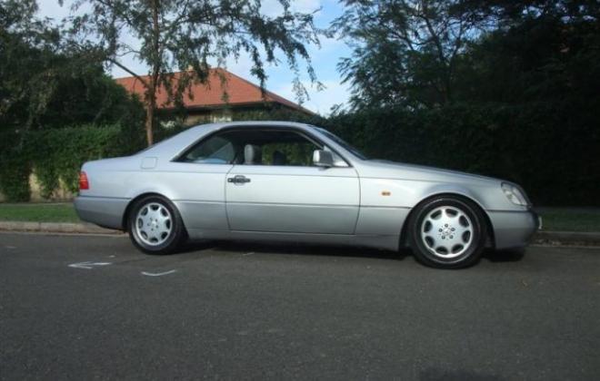 Grey silver C140 Mercedes S500 Coupe 1994 Australia classic (9).jpg