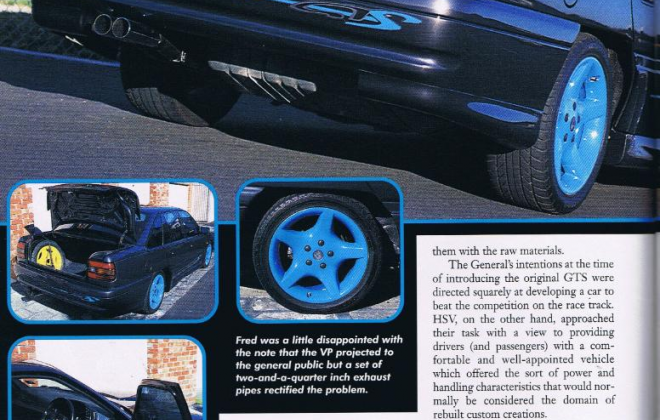HSV VP GTS magazine article spy catcher blue trim VP 1992 GTS (3).png