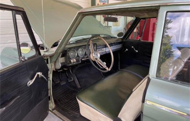 Hot rodded 1965 Studebaker Commander 2 door green (3).jpg