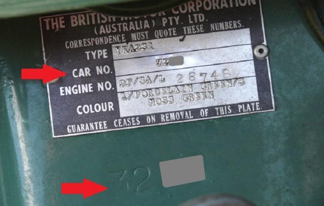 ID plate MK1 Morris Cooper S Australia chassis number.jpg