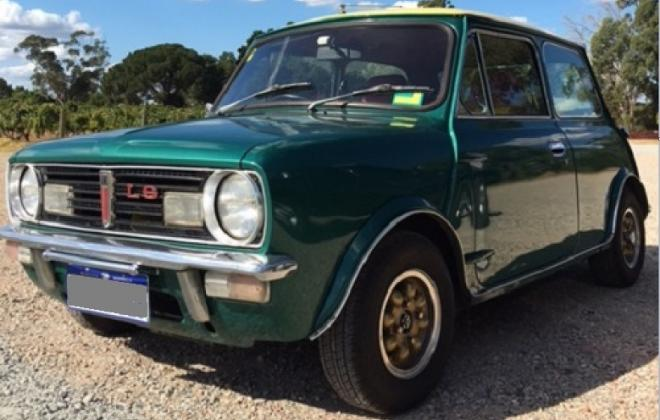 Iridium Green Leyland Mini LS 998cc (1) gold wheels.jpg