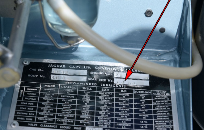 Jaguar E-Type XK-E gearbox location on data plate.png