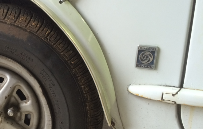 Leyland A pillar badge Clubman GT Australia.png