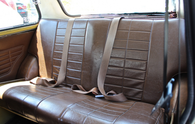 Leyland Mini Clubman GT Australia interior rear seat.png