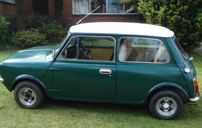 Leyland Mini LS Iridium Green 1977 restoration.jpg
