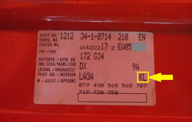MK1 GTI Campaign body sticker interior code KL.png