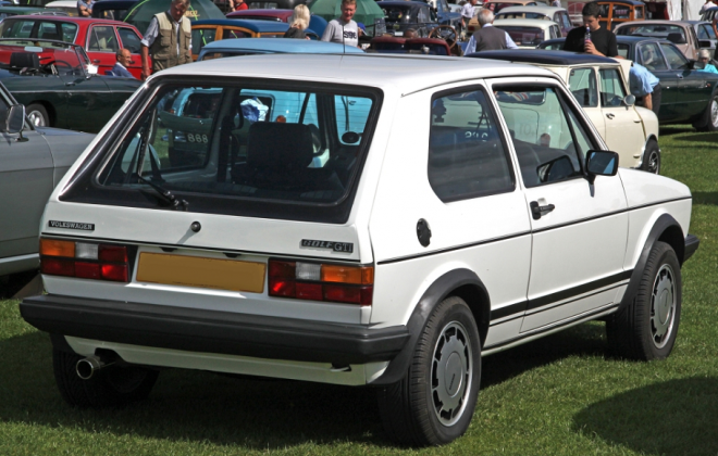 MK1 Golf GTI Campaign edition White UK Volkswagen rear image.png