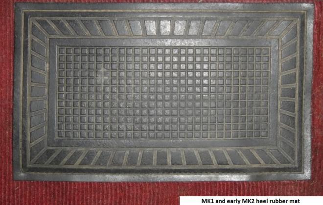 MK1 heel pad drivers carpet Morris Cooper S Australia.jpg