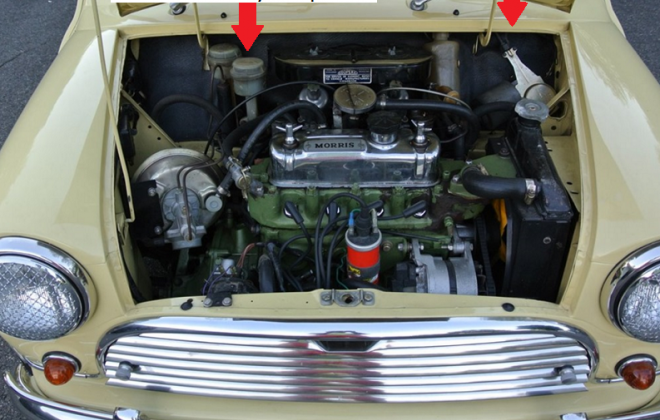 MK2 1970 engine bay showing MK2 Cooper S Australia body number locations.png