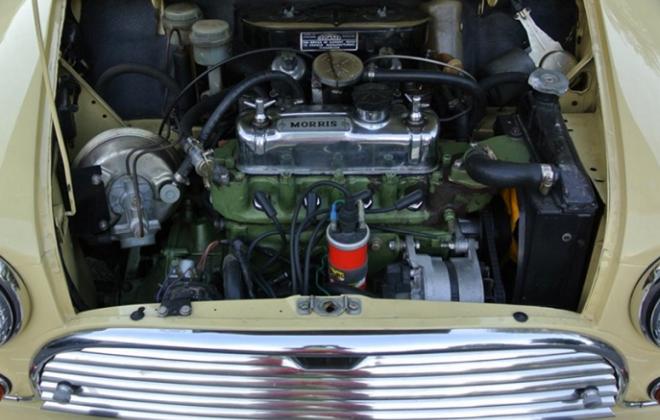 MK2 Morris Cooper S Australia 1970 engine bay.png