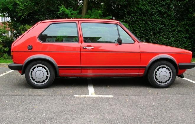 Mars Red 2 MK1 Golf GTI Campaign editoin side view UK VW.JPG