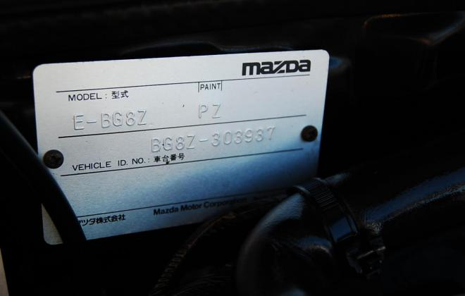 Mazda Familia GTR chassis plate chassis number.JPG