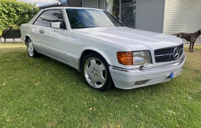 Mercedes 560SEC White Australian delivered low KM (1)d.png