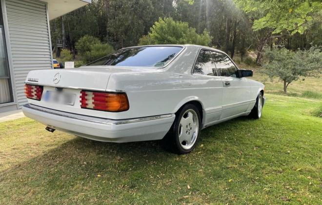 Mercedes 560SEC White Australian delivered low KM (2)df.jpg
