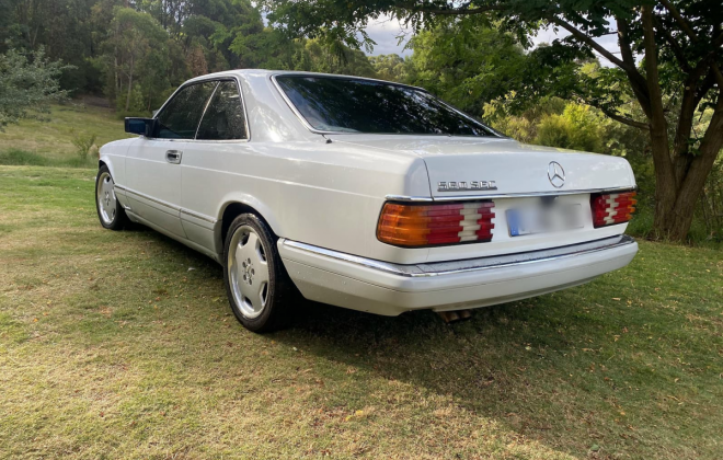 Mercedes 560SEC White Australian delivered low KM (5)h.png