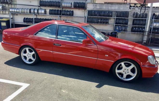 Mercedes C140 140 coupe Imperial Red paint code 582.jpg