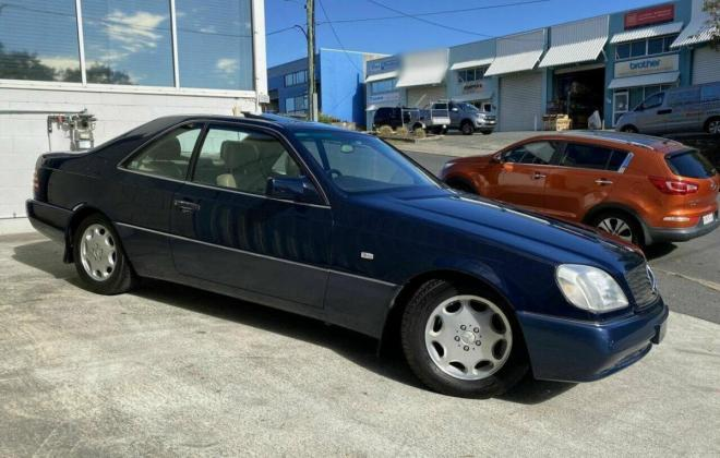 Mercedes C140 S500 coupe Midnight Blue with cream leather Australian delivered (1).jpg