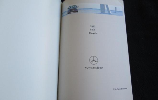 Mercedes W140 Coupe S600 brochure original (18).JPG