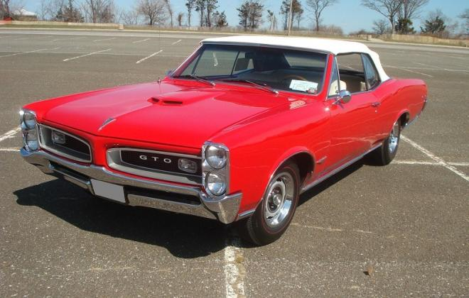 Montero Red 1966 Pontiac GTO convertable white top 3.jpg