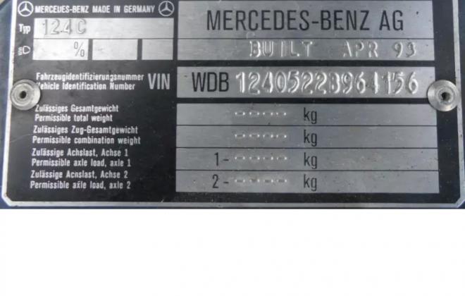 Nauticle Blue C124 Mercedes Coupe 124 coupe 320CE images Australia (10).png