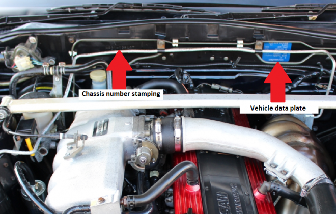 Nissan Skyline R31 GTS-R chassis number location and data plate (1).png