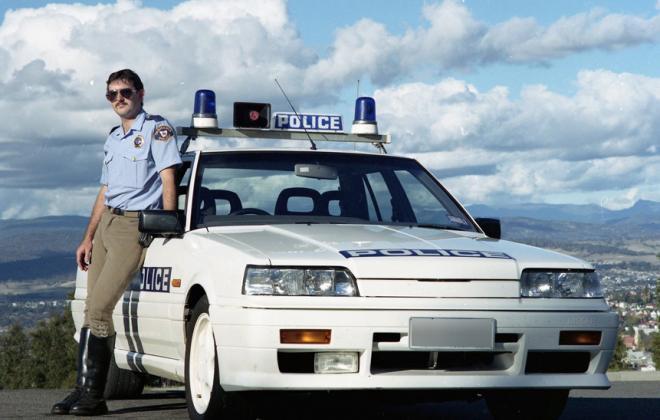 Nissan Skyline R31 GTS2 Tasmanian Police cars SVD 1990 (5).jpg