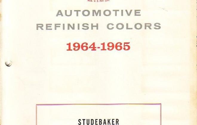 Original paint colour chip charts for 1965 Studebaker (1).jpg