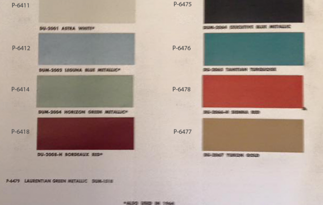 Original paint colour chip charts for 1965 Studebaker (1).png
