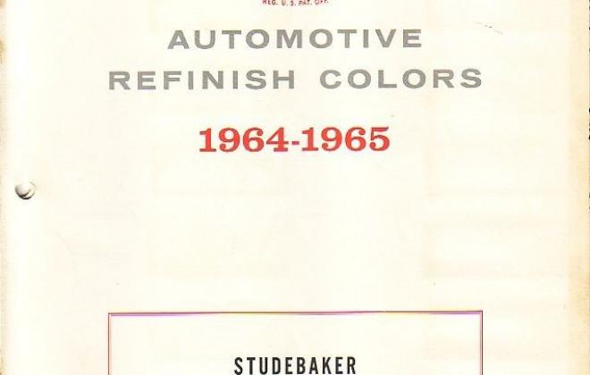 Original paint colour chip charts for 1965 Studebaker (1).jpg
