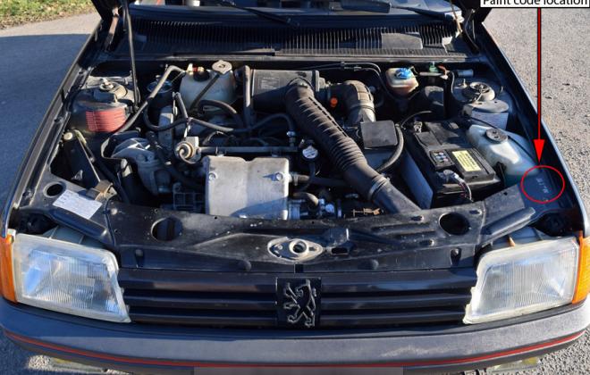 Paint code location Peugeot 205 GTI.png